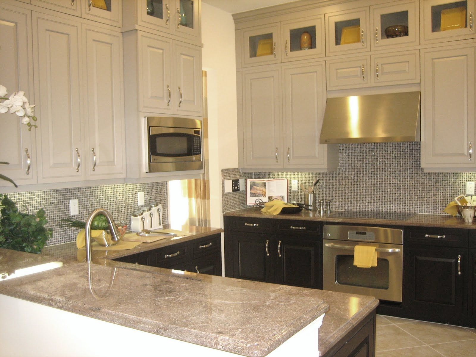 Of Kitchen Furniture I Like This Look Alot Love How The Backsplash Ties To The Two