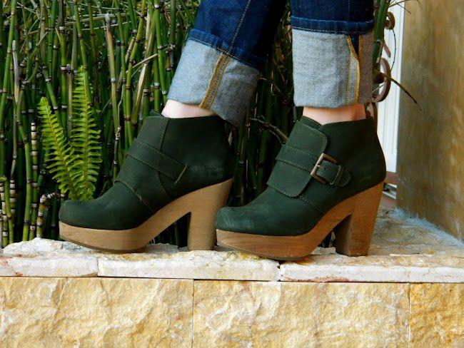 Cute green clogs