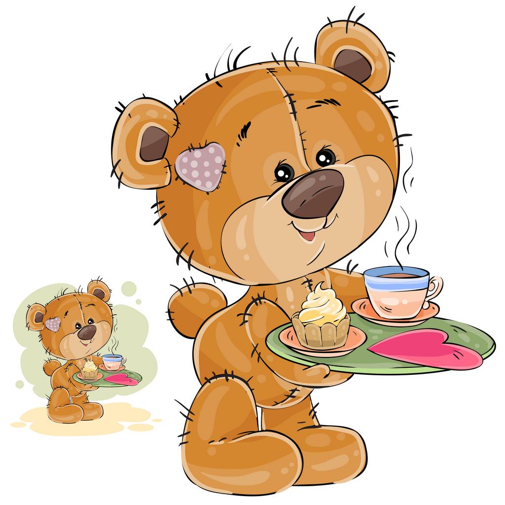 Картинки для детей мишка за обедом
