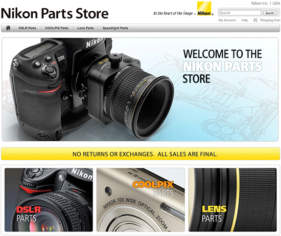 You can now buy Nikon parts online