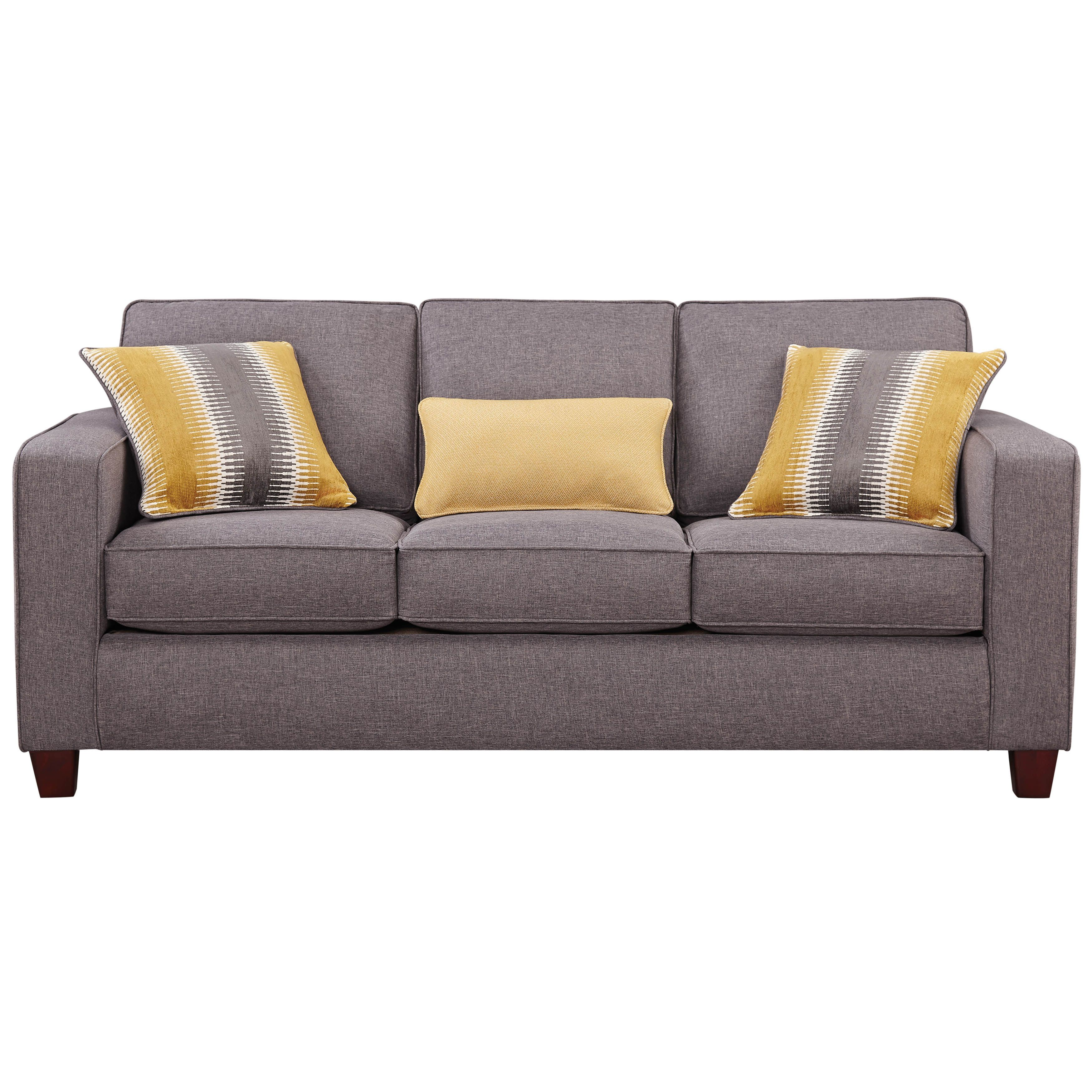 The Maxwell sofa uses charcoal grey for a stunning backdrop to