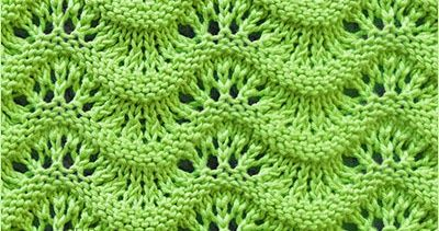 Scalloped Ripple | Lace knitting patterns, Knit stitch ...