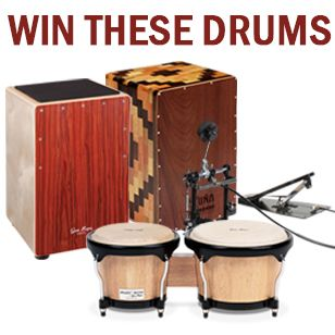 Drum giveaway Fritday OCT 18th!! Enter here http://www.godpsmusic.com/info/Gonbops