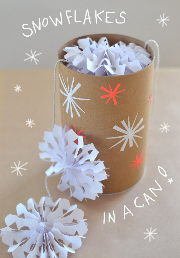 3d snowflake garland
