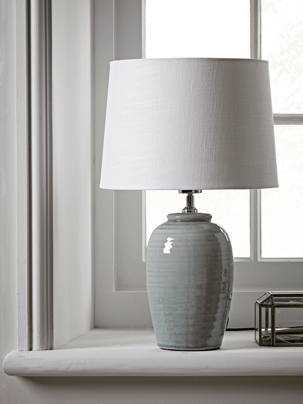 Ribbed Crackle Glaze Table Lamp In 2020 Table Lamp Ceramic