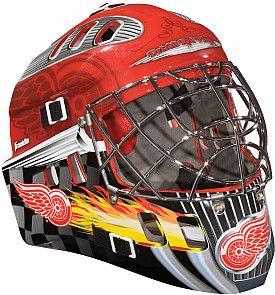 To Sit On My Shelf Franklin Nhl Detroit Red Wings Youth Street Hockey Goalie Mask Shop Nhl Com