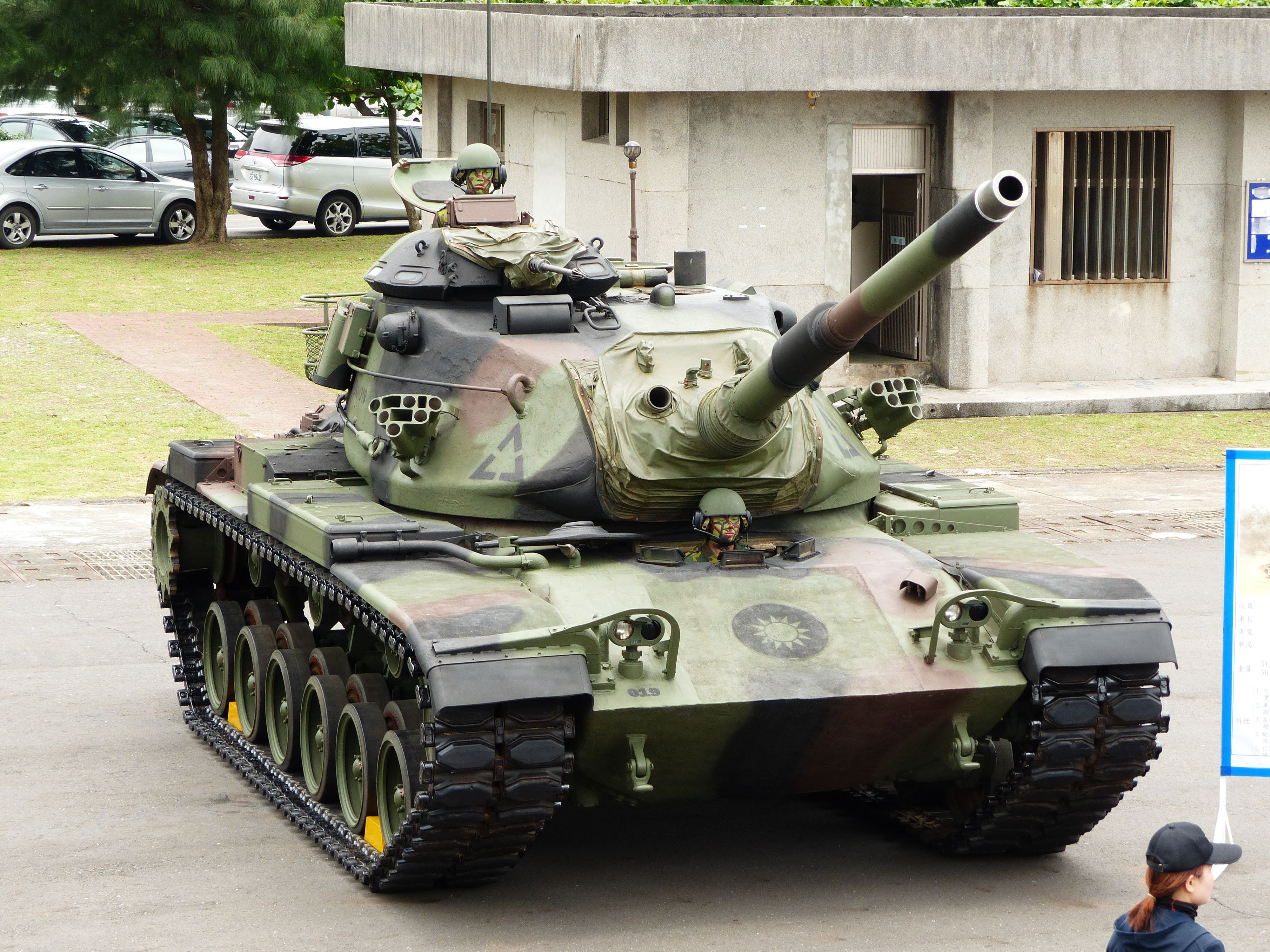 Roc army m60a3 tts display at no11 pier of zhongzheng naval patton tank sciox Image collections