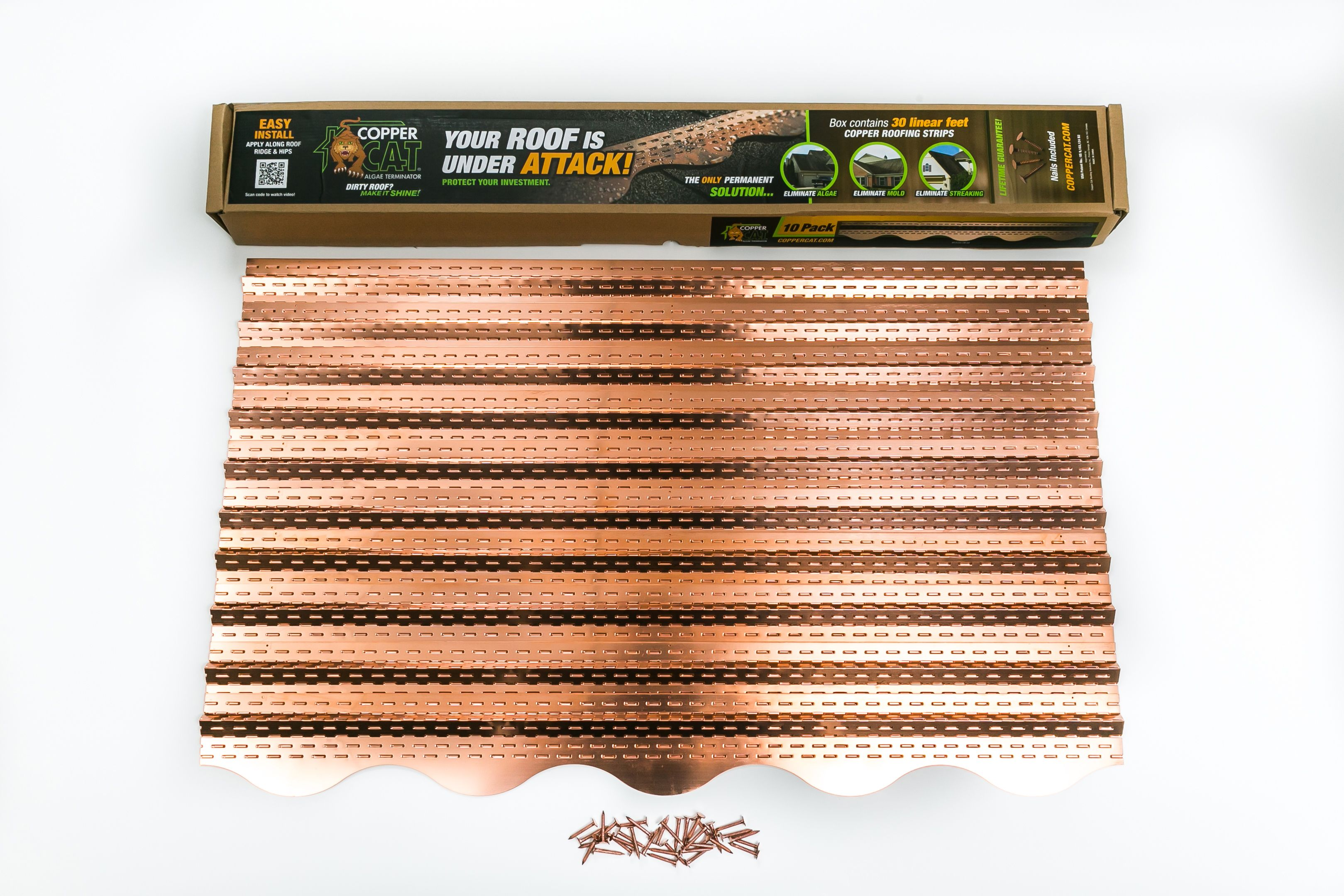 These Copper Strips Take The Algae Off Your Roof It S Amazing Lasts Forever Cc At3314 Living Wall Vertical Wall Planters Wall Planter