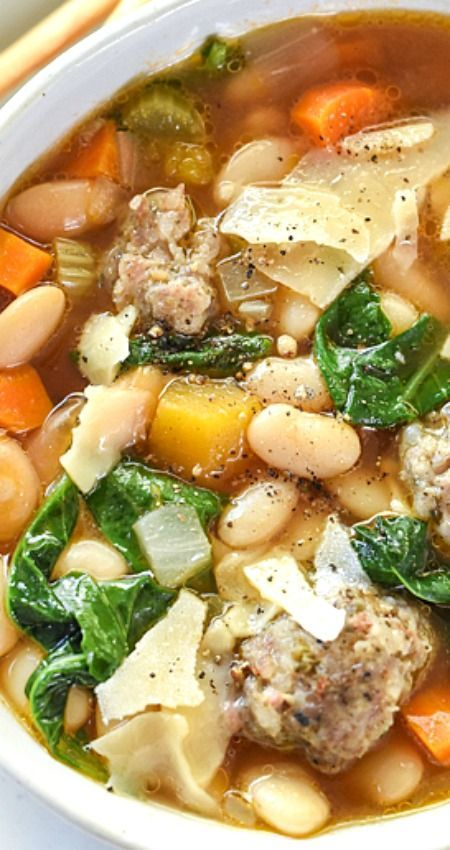 Slow Cooker Tuscan White Bean And Sausage Soup Recipe Mediterranean Diet Recipes