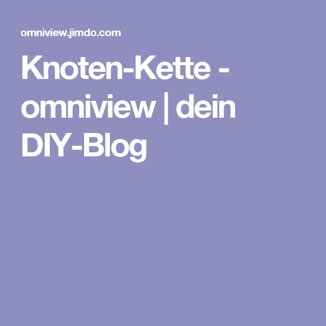 Knoten-Kette - omniview | dein DIY-Blog