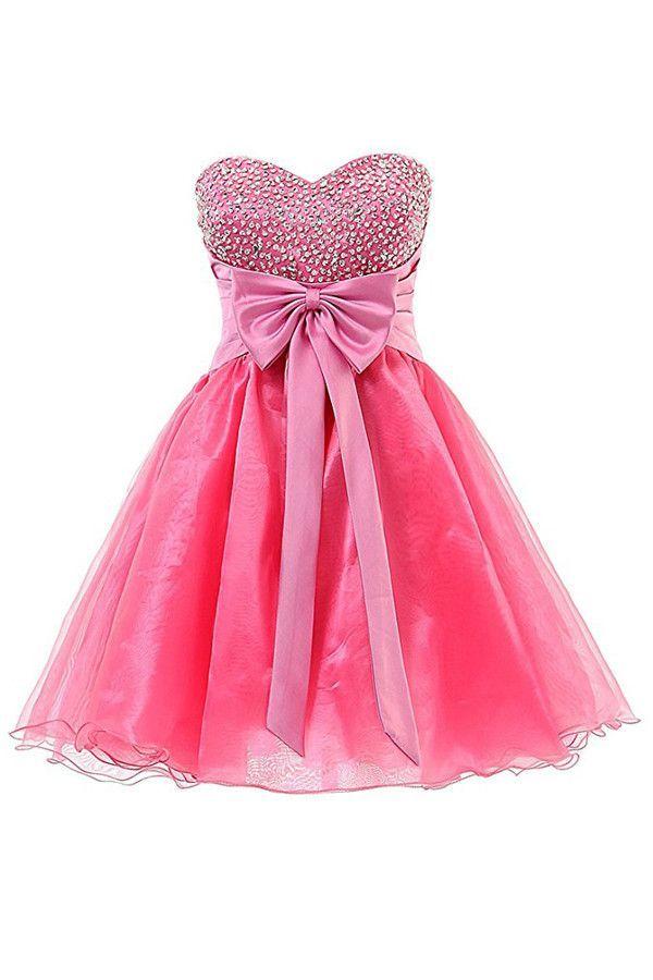 Sweetheart Organza Short Prom Dresses Homecoming Dresses PG063