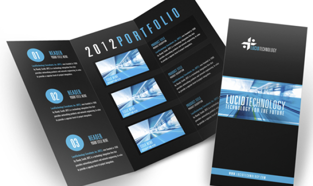 Blue And White Wavy Brochure Template Vector Free Download Free