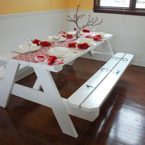 Picnic Table After Diy Farmhouse Table Kids Picnic Table Picnic Table Makeover