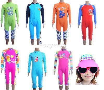 Bnwt Girls Boys 40 Uv Sun Protection All In One Swimsuit Swimming