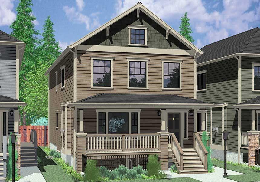 Duplex house plans Multigenerational Living w/ two