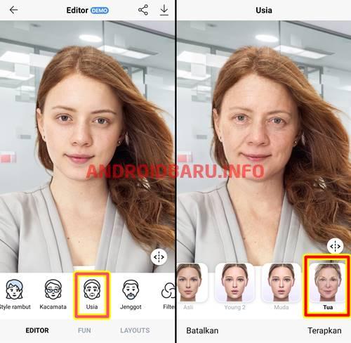Cara Edit Foto Menjadi Tua Di Hp Android Jenggot Penuaan Pengeditan Foto
