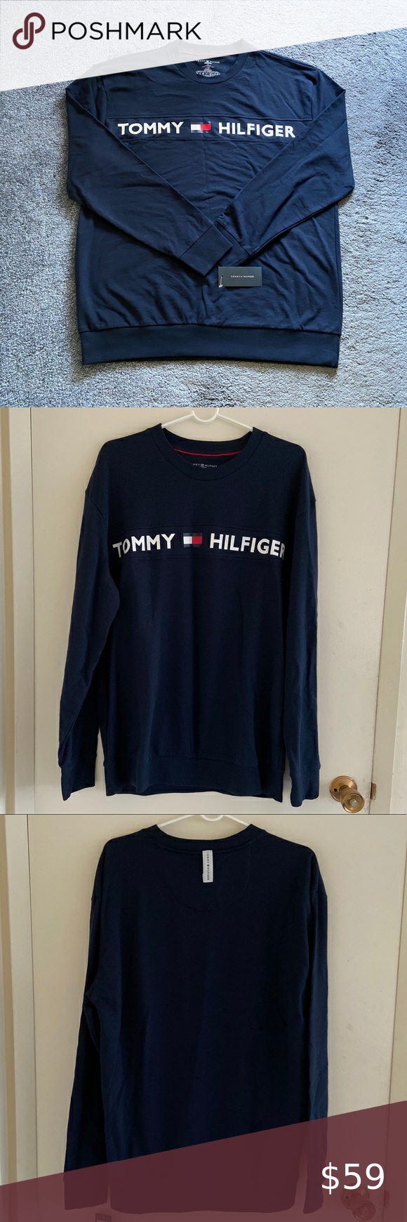 Tommy Hilfiger Men S Sweatshirt Clothes Design Tommy Hilfiger Shirts Long Sleeve Tshirt Men [ 1740 x 580 Pixel ]