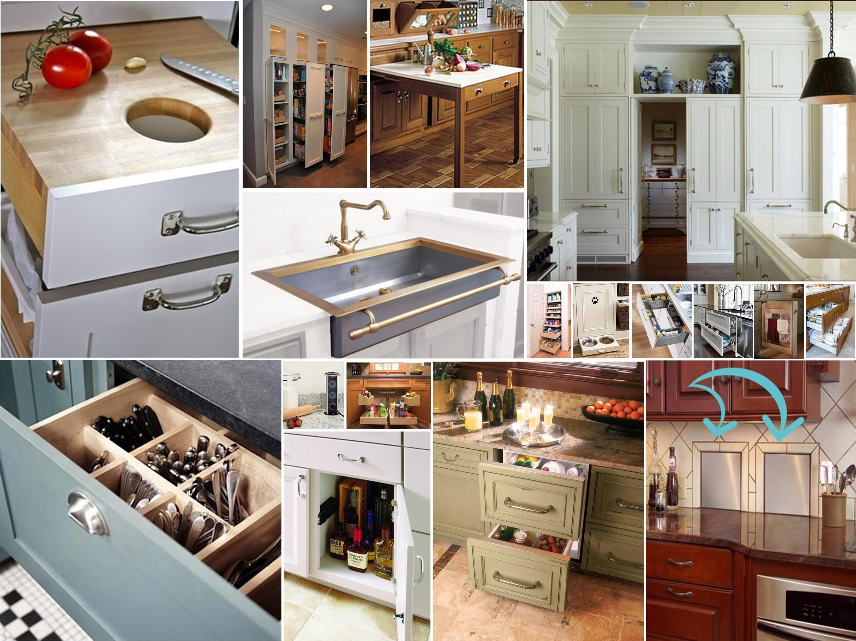 Nice Unique Kitchen Storage Ideas Part - 3: Clever Kitchen Ideas Lots Of Good Ideas