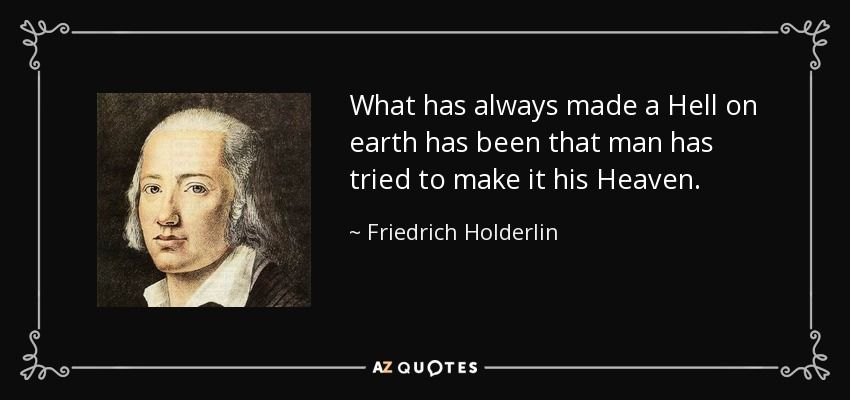 Friedrich Holderlin poems and fragments