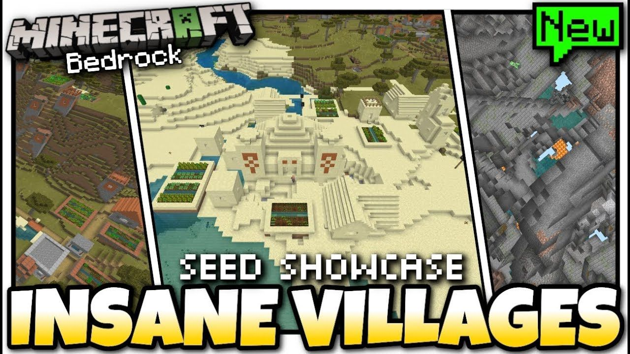 Minecraft - INSANE VILLAGES SEED [ Showcase ] MCPE / Bedro