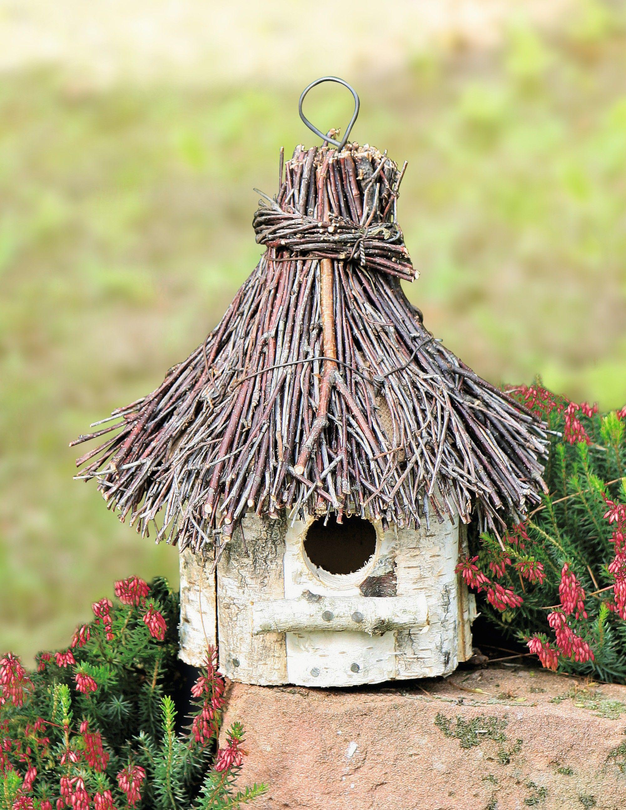 """vogelhaus birkenholz vogelhaus """"birke""""   wohnambiente-shop   bird houses i love"""