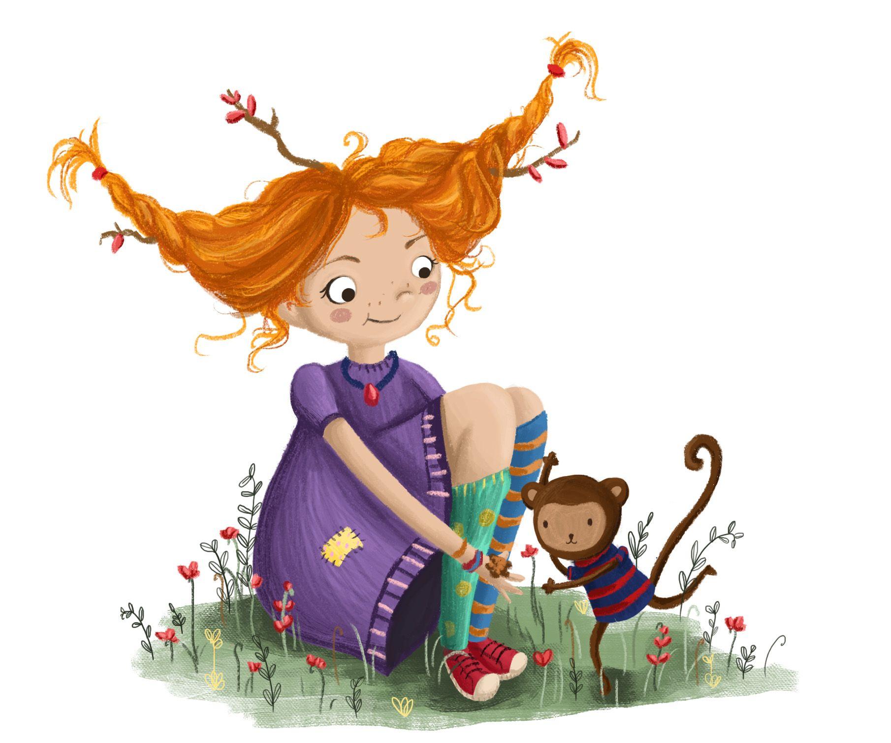 Pippi Longstockings Illustration by Lucy Fleming | Illustration,  Illüstrasyonlar, Çizimler