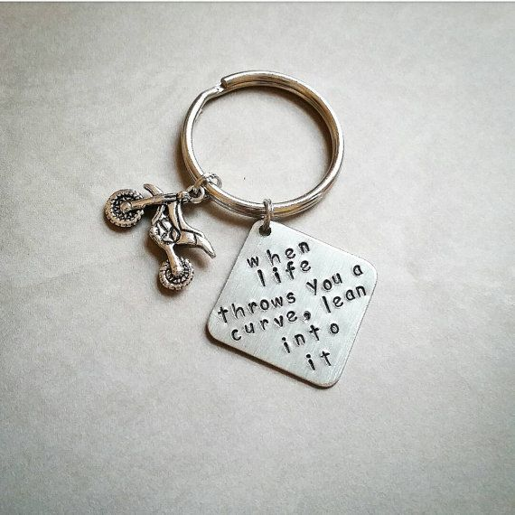 Motorcross Keychain Dirt Bike Moto Gift By Ohsocharmingbracelet