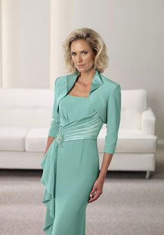 Chiffon Straps Empire With A Wrap Long Mother Of The Bride Dress picture 3