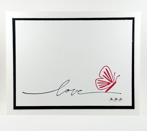 Elegant Style of Love On This Handmade Valentines Day Card