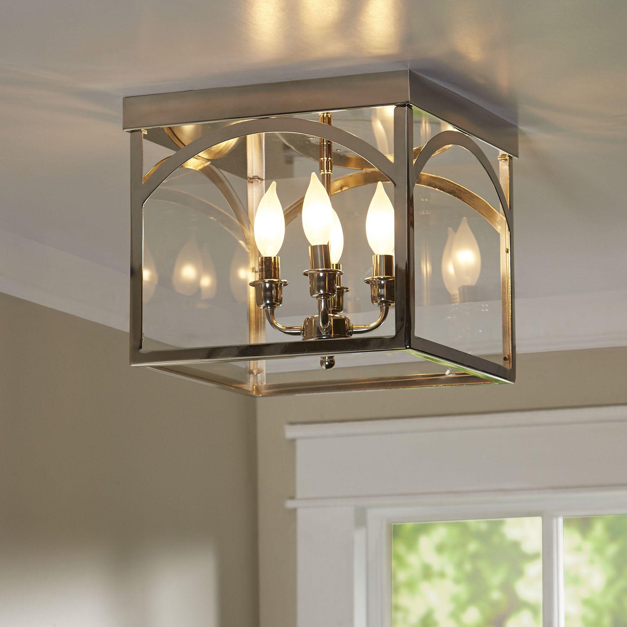 Covell 4 light 1238 lantern square flush mount