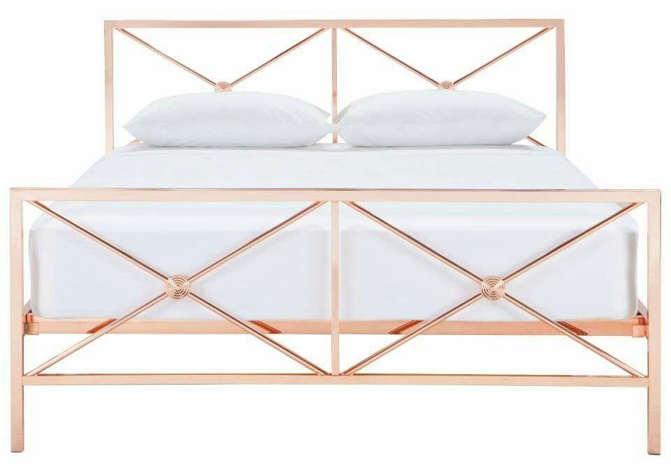 Knapp Queen Bed Copper Freedom Australia Rose Gold Room