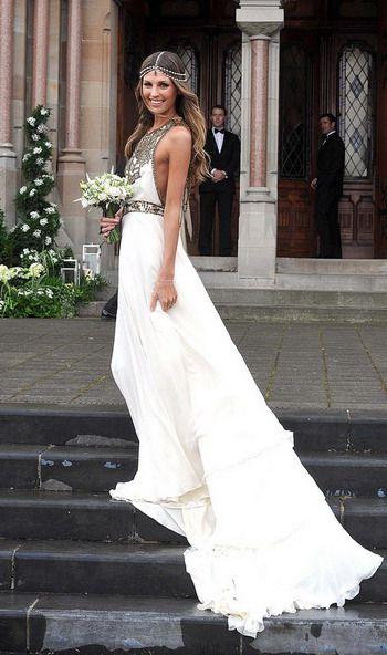 Boho Chic Wedding Gowns Dress