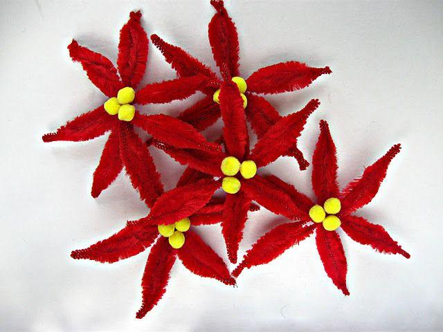 Poinsettia Craft diy make flowers  bows Pinterest Poinsettia