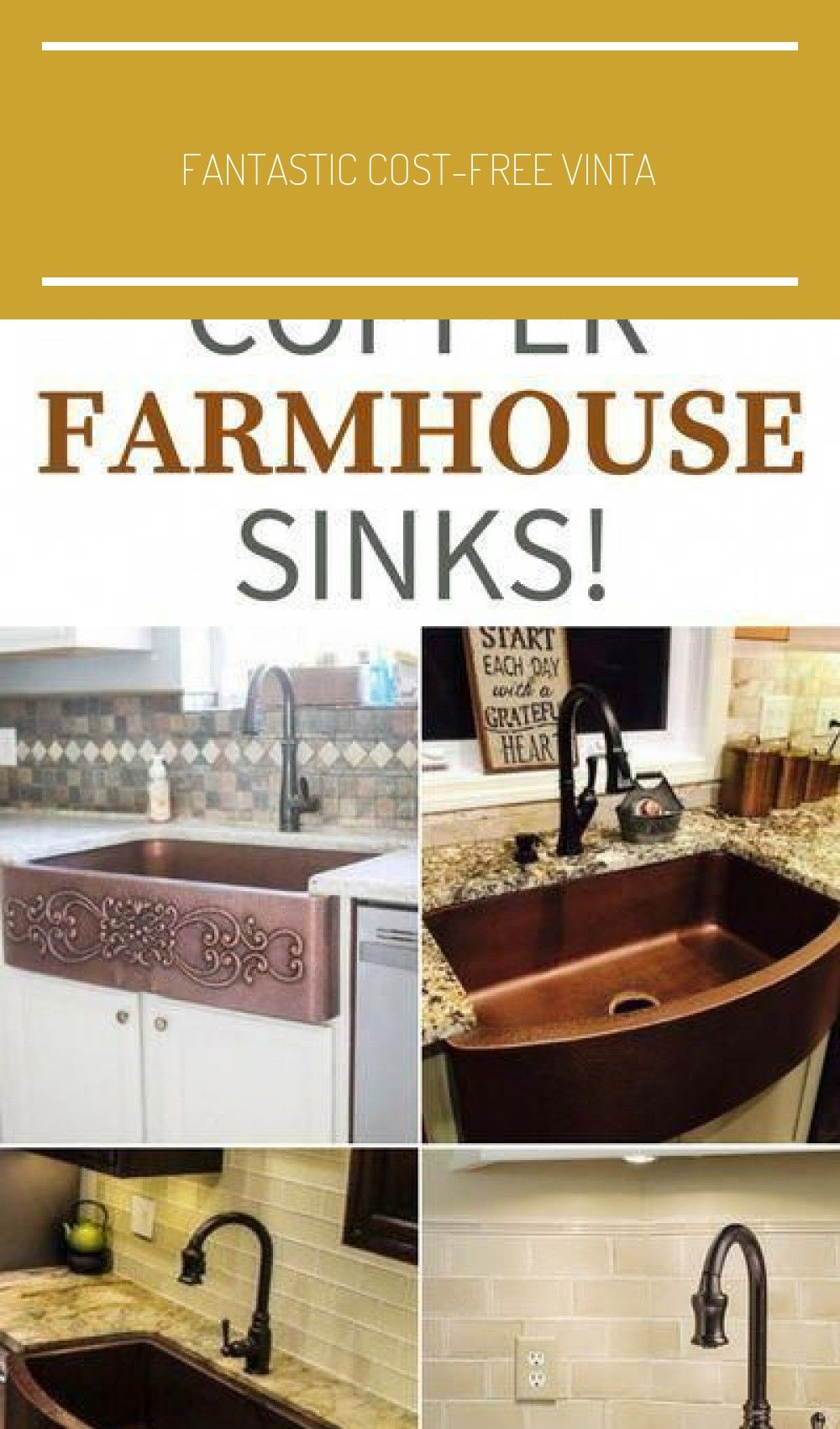 Fantastic Cost Free Vintage Farmhouse Sink Thoughts Being From