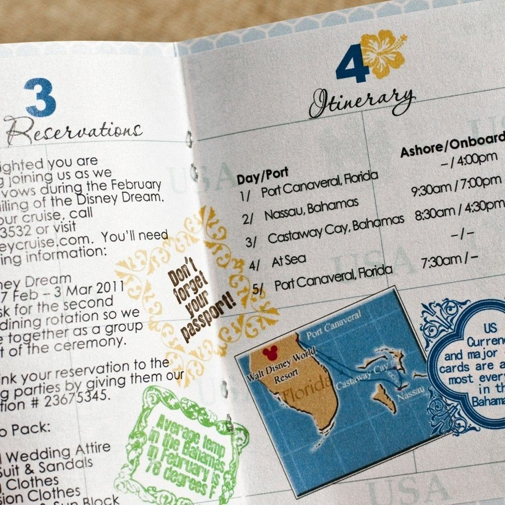 Passport Wedding Invitation Design Fee (Cruise Ship Wedding ...