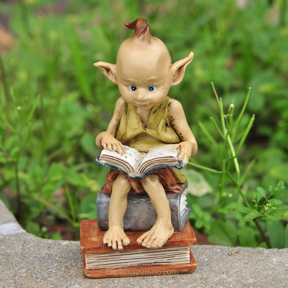 Miniature Dollhouse FAIRY GARDEN Garden Pixie Reading Book NEW * Check This  Out By Going To The Link At The Image.