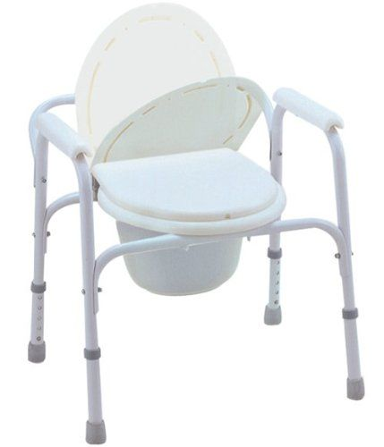 Bedside Commode Toilet Seat Safety Rails All In One Commode Bedside Commode Commode Chair Commode