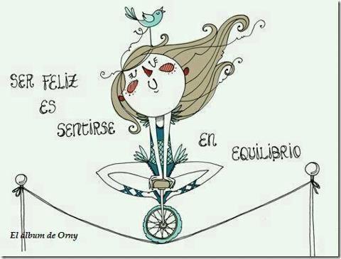 Ser feliz es sentirse en equilibrio.  #Happiness