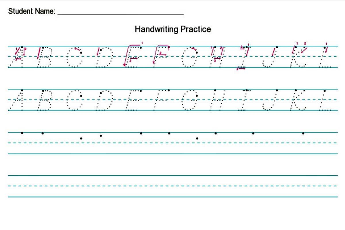Handwriting Worksheet Creator Free In