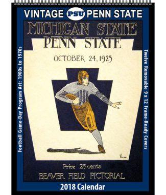 2018 Vintage Penn State Nittany Lions Football Calendar Football
