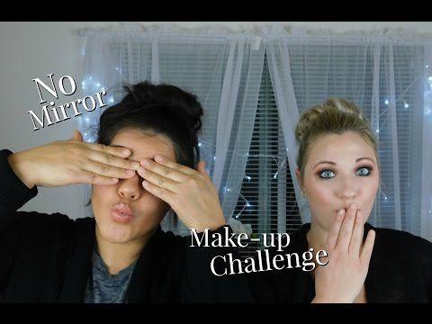 No Mirror Makeup Challenge | Amber Deniz - YouTube