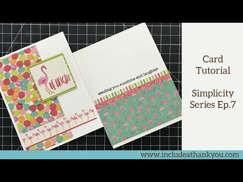 1305 Card Tutorial Simple Card Making Techniques Simplicity Series Ep 7 Youtube Simple Cards Card Making Techniques Card Tutorial