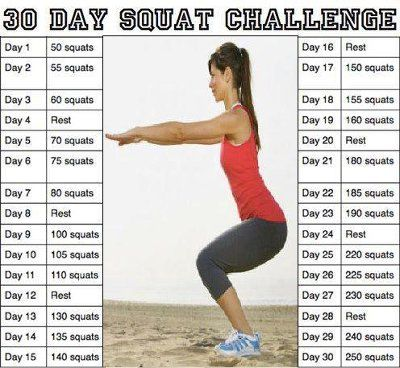 30 Day Squat Challenge Chart Weddings Weight Loss And Health Wedding