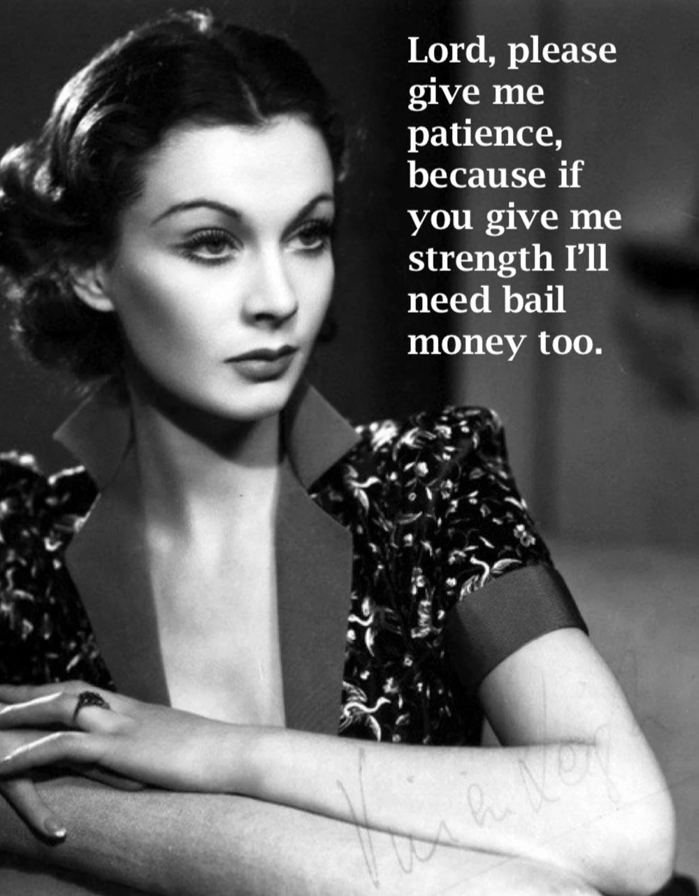 Lord Give Me Patience ... just for fun, snarky, serenity prayer, thinking of you, funny, bail money, relationship, friendship card [814-241]