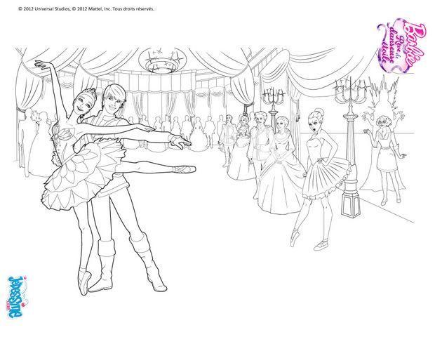 Coloriage Barbie  Barbie danseuse étoile à dessiner Colouring - copy coloring pages barbie mariposa