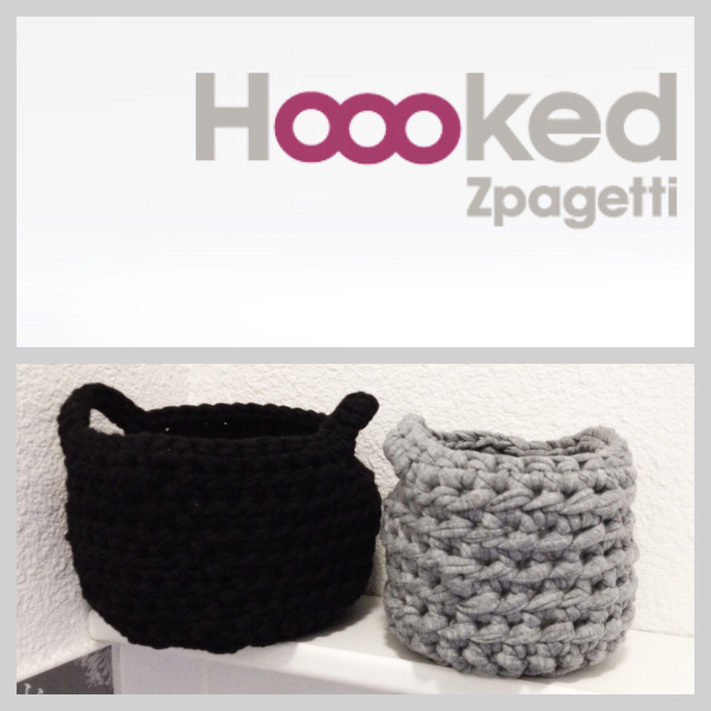 Diy Mandjes Haken Baskets Chrochet Hoooked Zpagetti Haaknaal