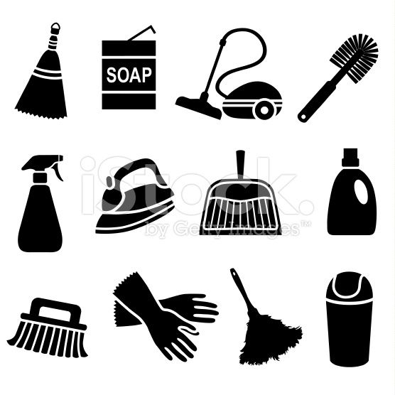 Vector Icons With A House Cleaning Theme Cleaning Icons Icon