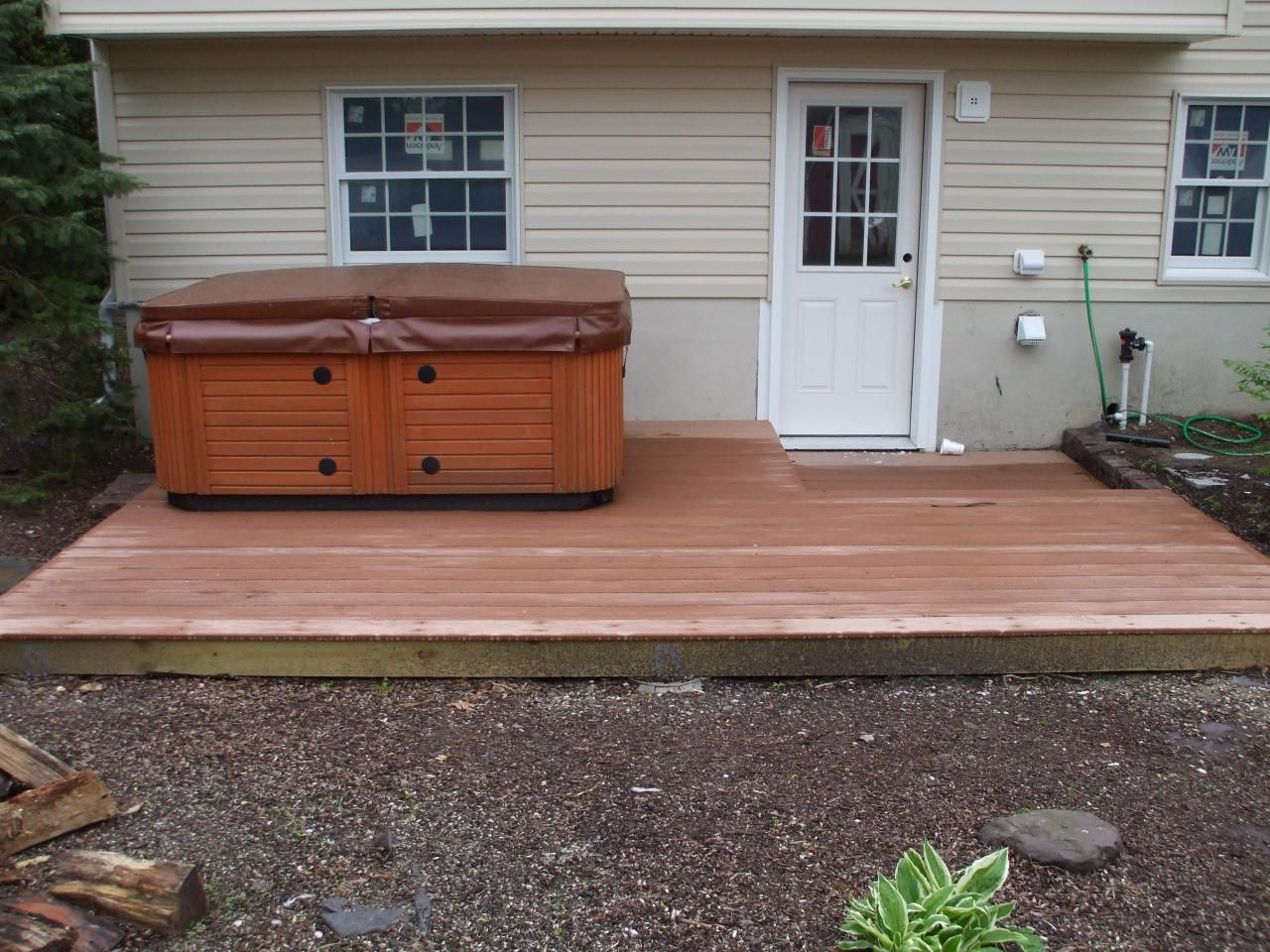 creative design ideas modern small backyard deck wood with tub
