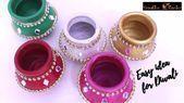 Sehr einfache süße Idee für Diwali Dekoration zu Hause I DIY Diwali Dekor I Kreativ ... Sehr ...