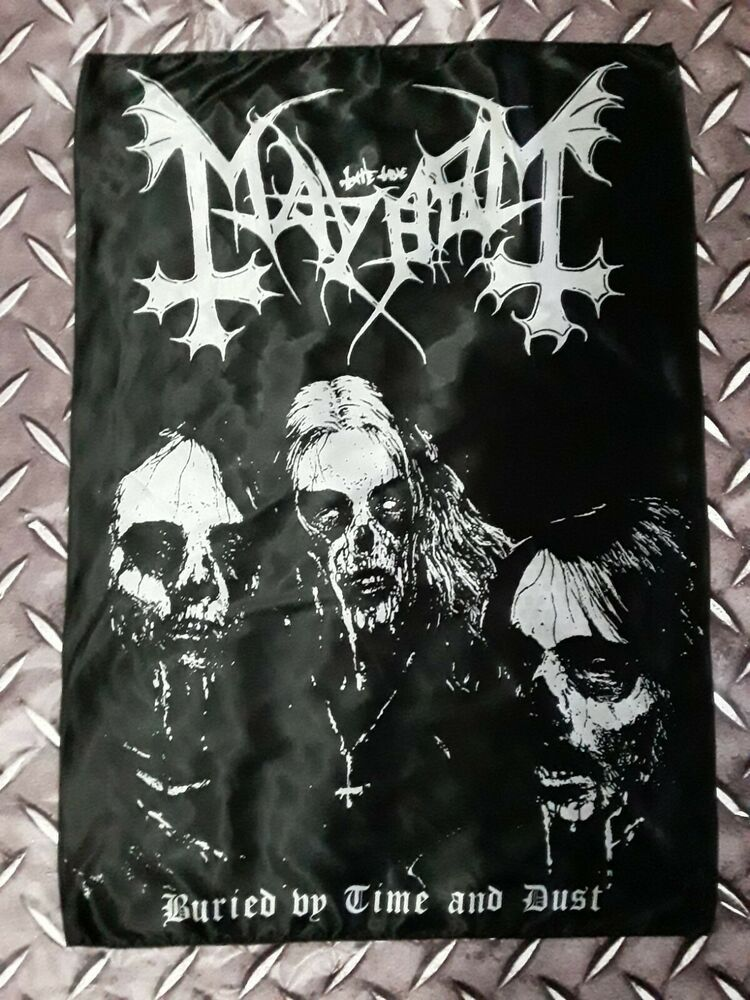 Mayhem Buried By Time And Dust Poster Flag Mayhem Buriedbytimeanddust Mayhemposter Norwegianblackmetal Euronymou Black Metal Extreme Metal Death Metal